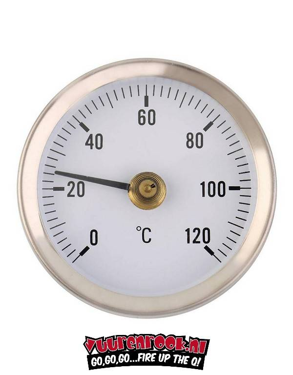 Vuur&Rook Vuur&Rook Edelstahl Thermometer 60mm