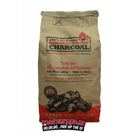 All Natural All Natural Hardwood Lump Charcoal 4,5 kilo + FREE Fatwood Sticks