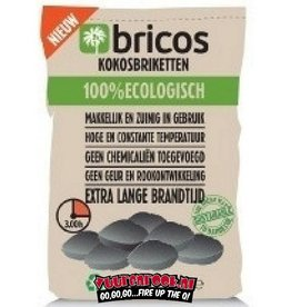 Bricos Bricos Kokos briketten 3 kilo (pilow shape)
