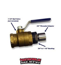 BBQ Guru BBQ Guru 1-1/2 Ball Valve Adapter Screws into 1-1/2 Ball Valves