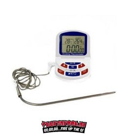 ETI Digitale BBQ thermometer met timer. Incl Probe