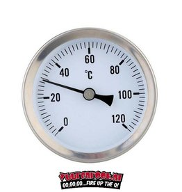 Smoki Thermometer 0-120c inclusief montage klip. 160mm/100mm