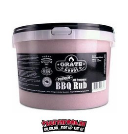 Dutch BBQ Crew Dutch BBQ Crew / Grate Goods Premium all Purpose Rub Emmer 2500 gram.