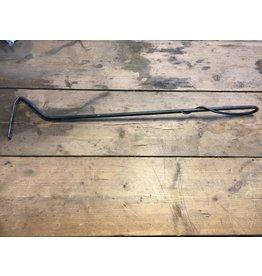 Vuur en Rook Authentieke Smeedijzeren As/Kolen Pook 60cm