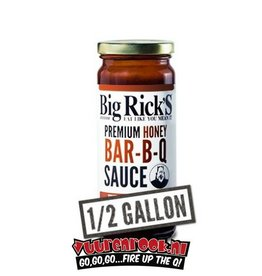 Big Rick's Honey BBQ Sauce 1/2 Gallon