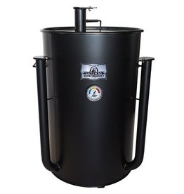 Blues Hog Edition Gateway Drum Smoker - 55 Gallon Flat Black No Plate