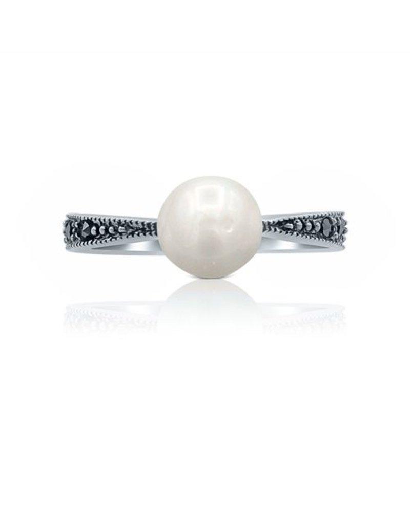 Silberring mit Perle Vivien