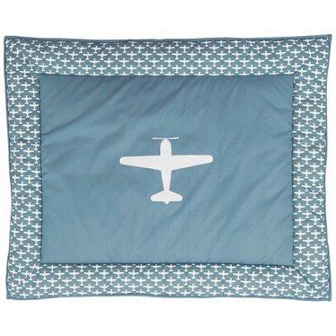 Taftan Taftan boxkleed vliegtuigje Grijs/Blauw