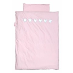 Taftan Taftan Dekbedovertrek hart roze