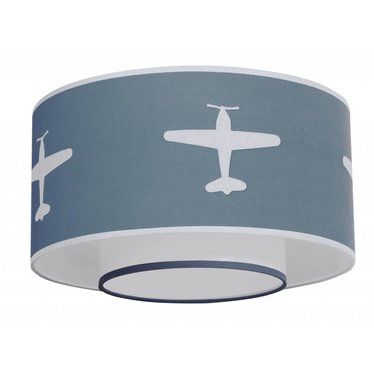 Taftan Taftan plafondlamp vliegtuig grijs-blauw