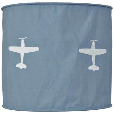 Taftan Taftan hanglamp vliegtuig grijs-blauw zachte kap