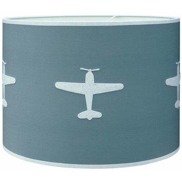 Taftan Taftan hanglamp vliegtuig grijs-blauw harde kap
