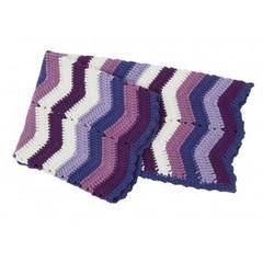 Sebra Sebra  deken met zigzag streep Paars