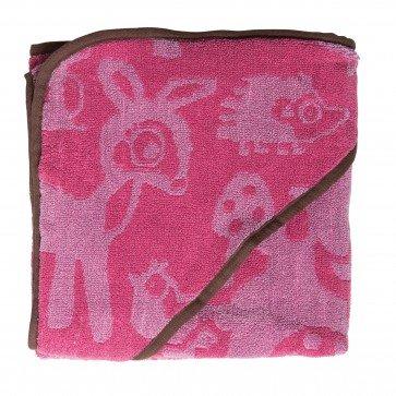 Een leuke badhanddoek van het merk sebra in een leuke forest pink kleur.
