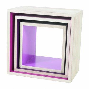Sebra Sebra paulownia boekenkastjes Paars/Roze