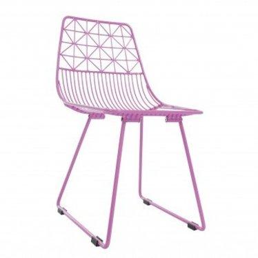 Sebra Leuke Metalen stoel in het roze Sebra Sit me