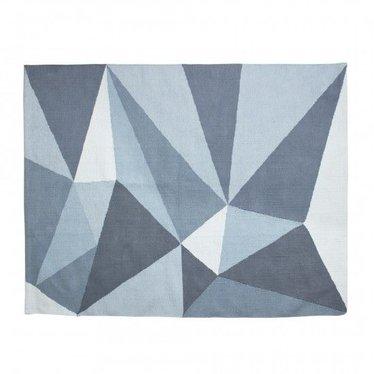 Sebra Geweven rechthoek vloerkleed in pastel blauw van Sebra