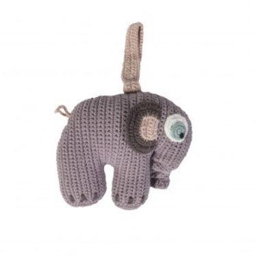 Sebra Schattige Gehaakte muziekmobiel olifant van Sebra in Lila