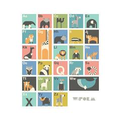 W:Form W:Form Alfabet Poster Engelstalig