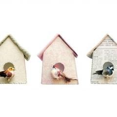 Studio Ditte Studio Ditte Muursticker Set Vogelhuisjes