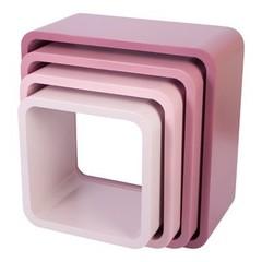 Sebra Muurkastjes vierkant sebra mat vintage roze