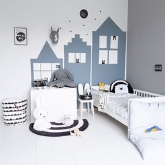 Klein & Stoer Steigerhouten speelgoedkist wit