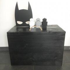 LoveYouMore Steigerhouten speelgoedkist zwart