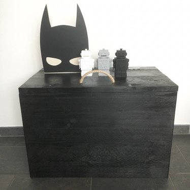 Klein & Stoer Speelgoedkist steigerhout van Klein&Stoer in het zwart
