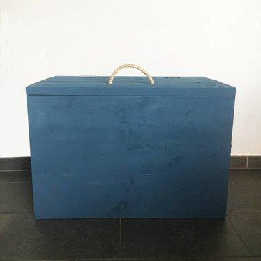 Klein & Stoer Speelgoedkist steigerhout van Klein&Stoer in het jeansblauw