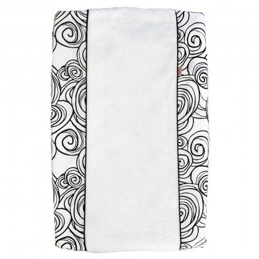 Witlof for Kids Witlofforkids aankleedkussenhoes moon zwart wit