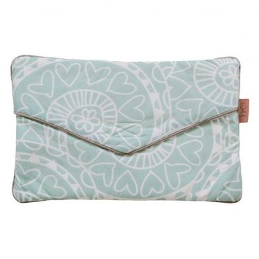 Witlof for Kids Leuke lotiondoekjes clutch in de kleur offhwite mint