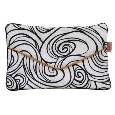Witlof for Kids Leuke lotiondoekjes clutch in de kleur moon zwart-wit