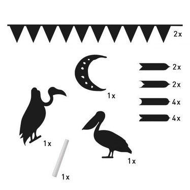 Witlof for Kids Leuke Krijtbord stickervel van het merk witlofforkids