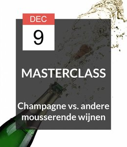 9 DEC - Masterclass Mousserende wijnen