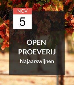 5 NOV - Open Proeverij: Najaarswijnen