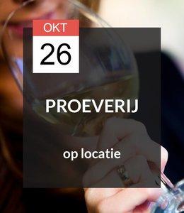 26 OKT - Proeverij op locatie