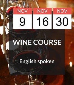 9, 16 & 30 NOV - English Spoken Wine Course