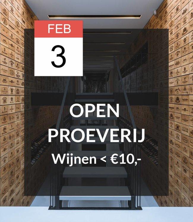 3 FEB - Open proeverij: Wijnen onder de €10,-