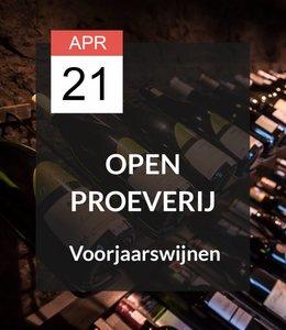 21 APR - Open proeverij: Voorjaarswijnen