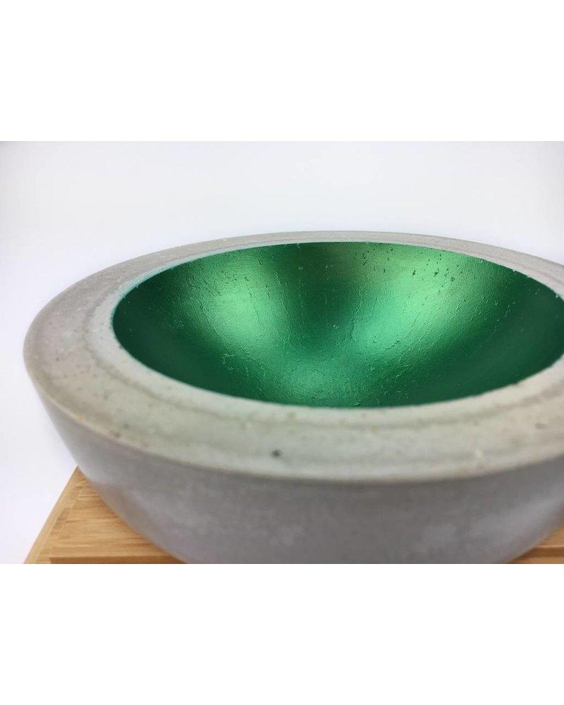 """Klein Betonschale """"Smaragd"""""""