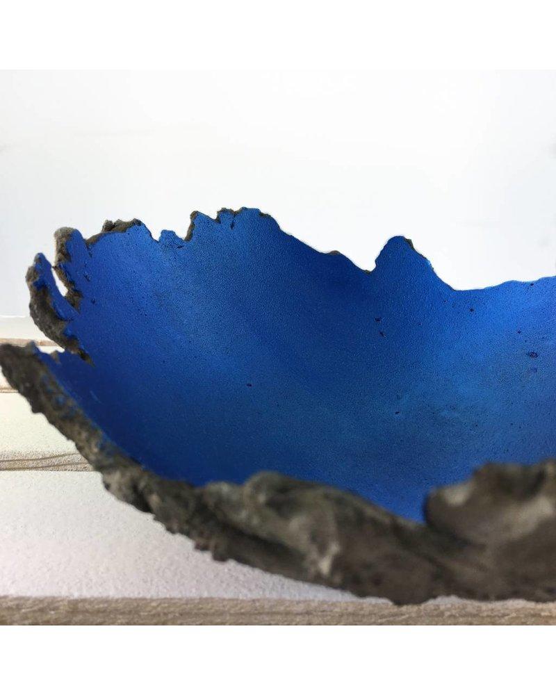 "Betonschale Lava ""Kobaltblau Metallic"""