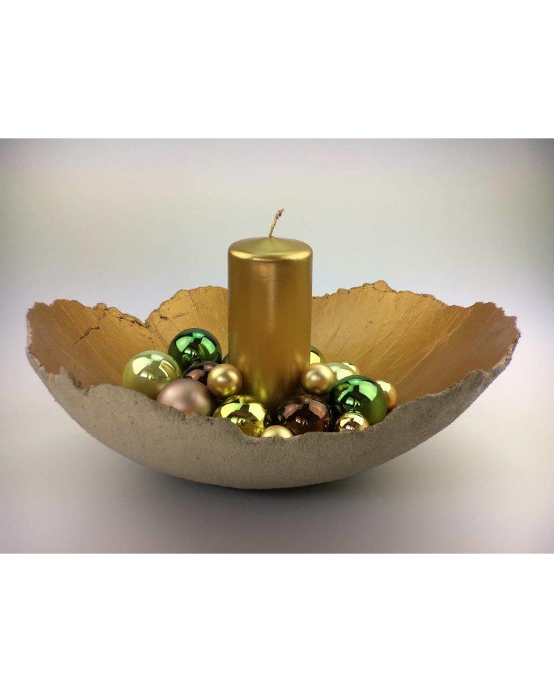 Betonschale  Weihnachten / Gold