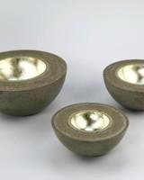 Betonschalen 24 Karat Grüngold in 3 Größen