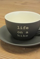 2017 Life on a Bike 200ml Cappuccino Cup and Saucer