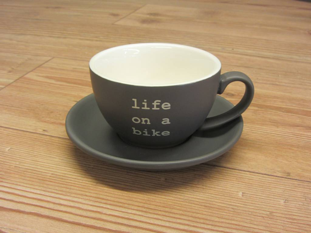2017 Life on a Bike 280ml Cappuccino Cup and Saucer