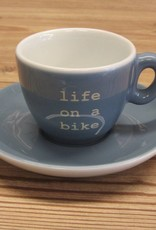 life on a bike espresso cup