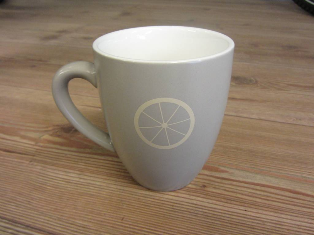Life on a Bike Mug 400ml Stone