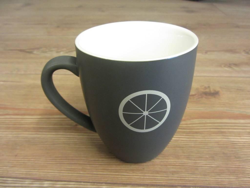 Life on a Bike Mug 400ml Slate