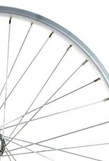 700c Hybrid Rear Wheel Alloy Double Wall GS Silver
