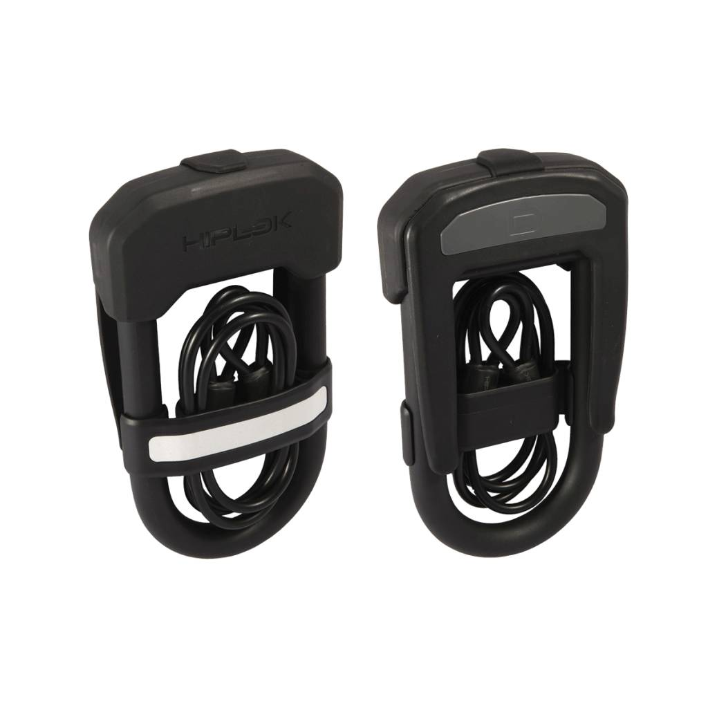 Hiplok D Lock and Cable Pack Black